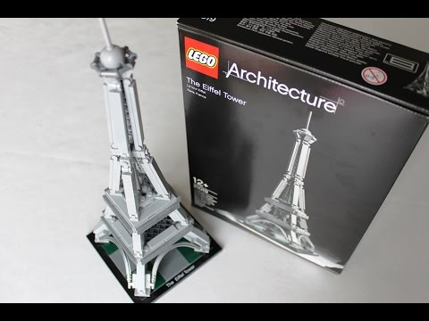 lego architecture paris eiffelturm lego the eiffel tower stein f r stein youtube. Black Bedroom Furniture Sets. Home Design Ideas