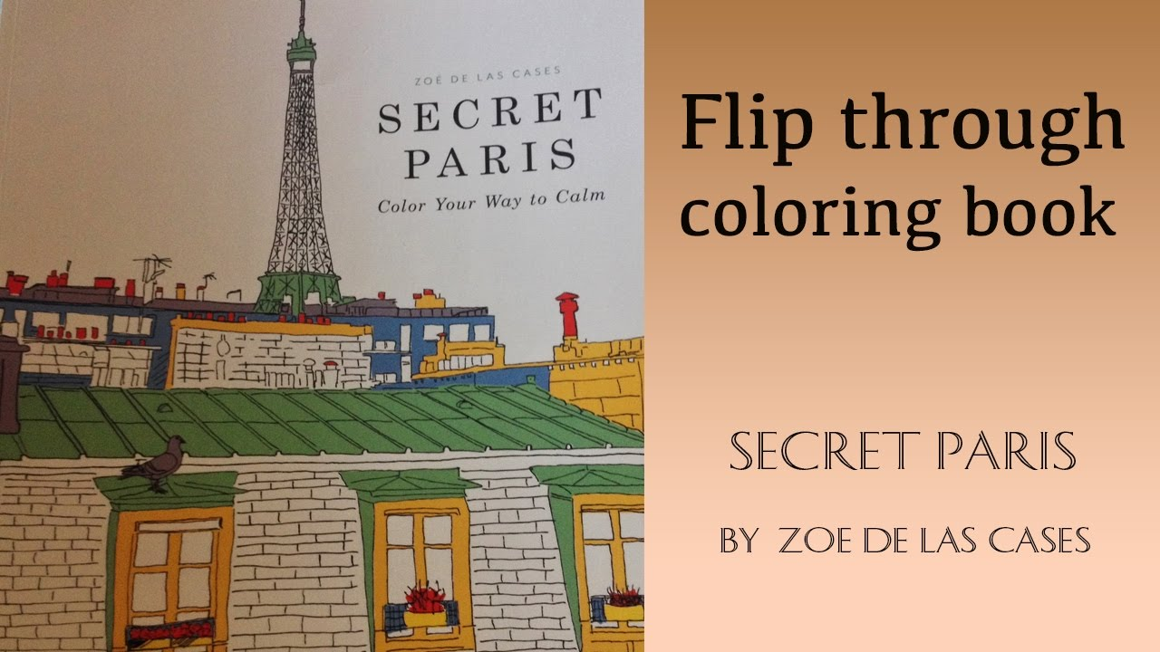 Secret Paris Coloring Book Flip Through