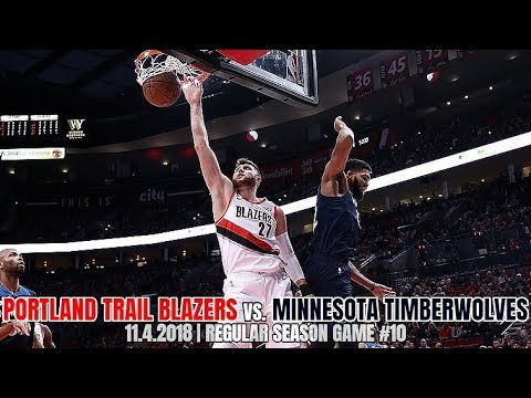 purchase cheap cf21c fd352 Portland Trail Blazers vs Minnesota Timberwolves - Full Game Highlights -  November 4, 2018