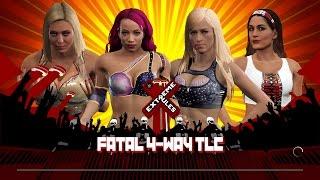 WWE 2k17 - Charlotte VS Sasha Banks VS Summer Rae VS Brie Bella