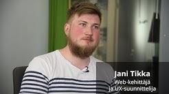 Meillä töissä: Jani Tikka, web-kehittäjä ja UX-suunnittelija