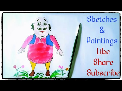 How To Draw Motu Patalu Painting Tutorial In Simple Easy Step By