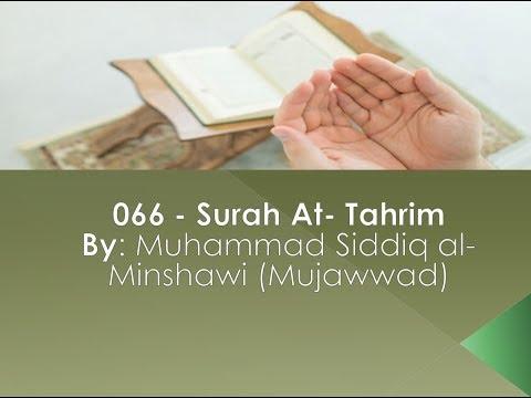 066 - Surah At- Tahrim By: Muhammad Siddiq Al- Minshawi English Translation (Sahih International)