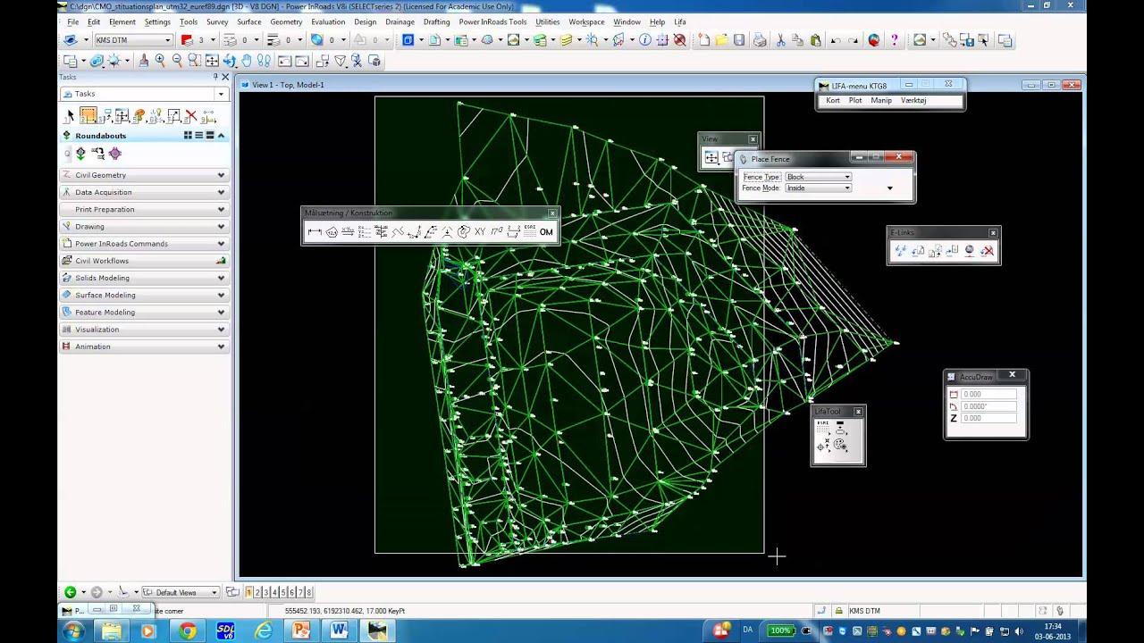 microstation inroads indl sning af esri grid fil med lifa v rkt jskassen 03 06 2013 youtube. Black Bedroom Furniture Sets. Home Design Ideas