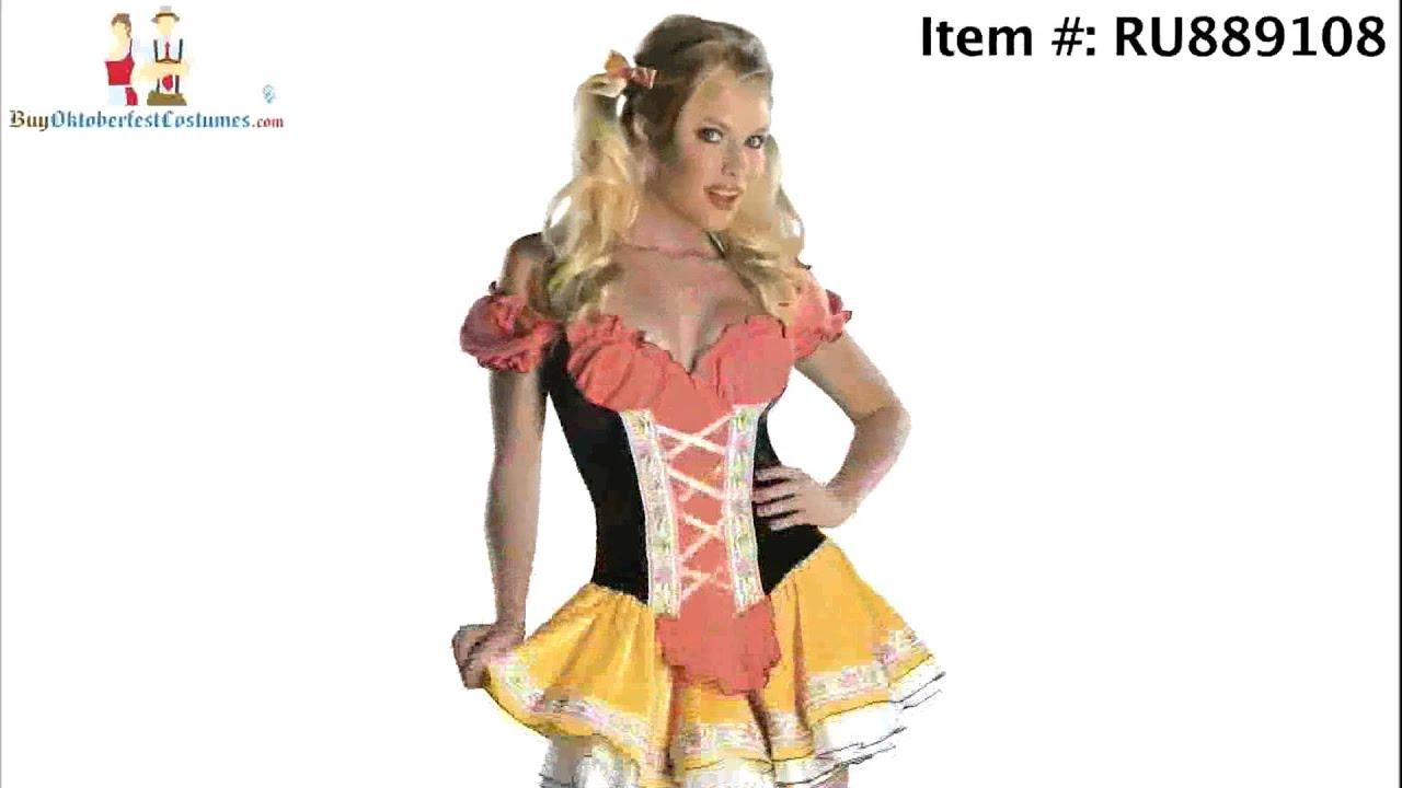sc 1 st  YouTube & Womenu0027s German Oktoberfest Costumes - YouTube