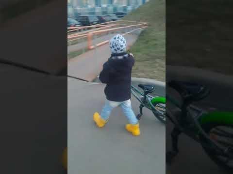 Кузя и велосипед. Март 2020