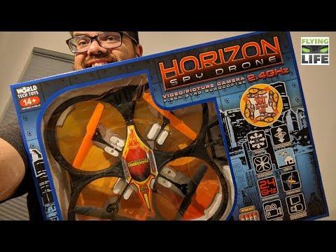 Big Cheap Camera Drone Unboxed! World Tech Toys Horizon Spy Drone