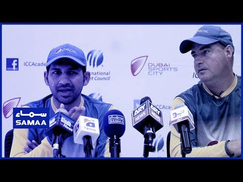 Sarfaraz Ahmed and head coach Mickey Arthur press conference | SAMAA TV | 22 April 2019