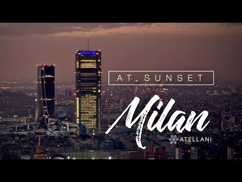 Milano At Sunset - A 5K HD video of Milan's Skyline