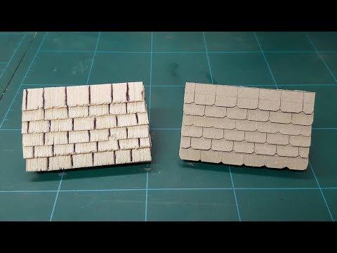 Miniature Tile, Slate & Wooden Shingle Roofing