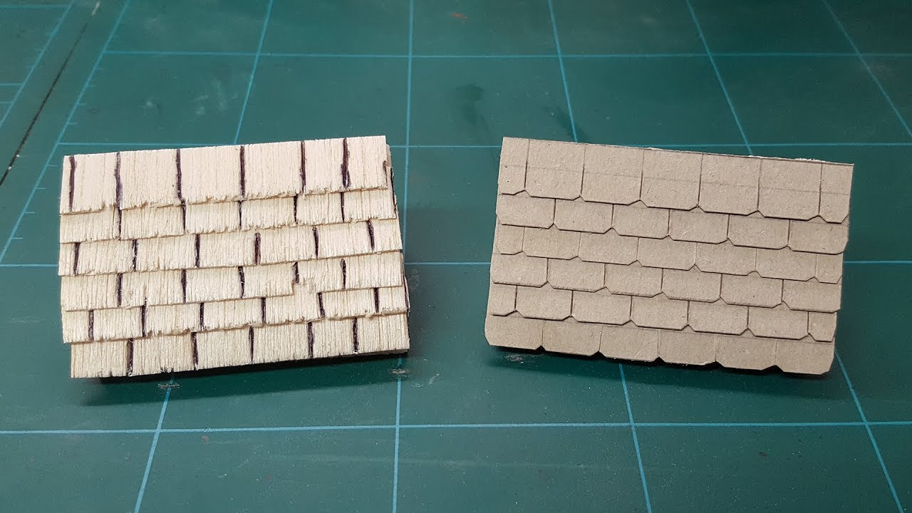 5 pcs slate roof shingles for roofs or crafts