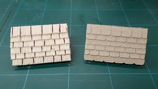 Miniature Tile, Slate & Wooden Shingle Roofing