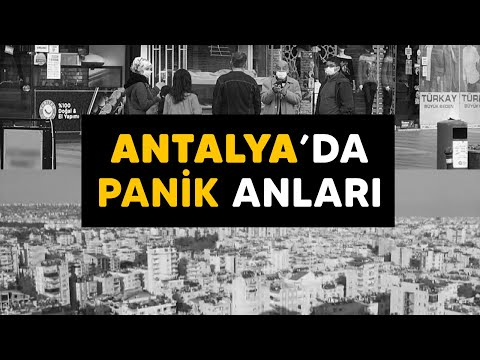 Antalya depreminde yaşanan panik anları kamerada