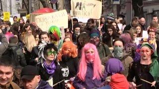 Марш феминисток в Киеве. 8 марта - день весны или борьбы за права женщин?