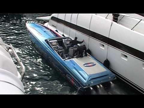CIGARETTE Powerboat - Foxtrot Oscar - Hafen Monaco - Top Gun -