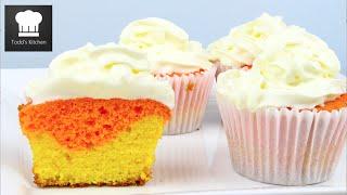 Candy Corn Cupcakes - Halloween Recipe