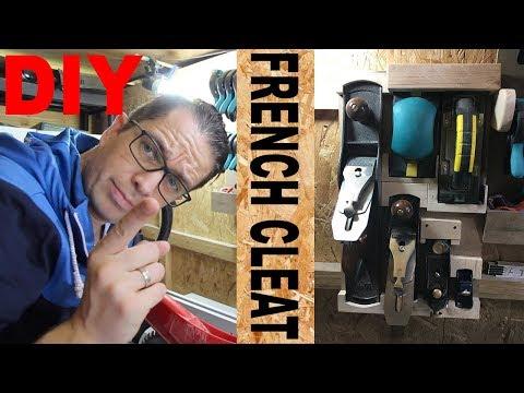 DIY French Cleat Hobel und Schleifklotz Halter selber machen Werkzeugwand selber bauen French Cleat
