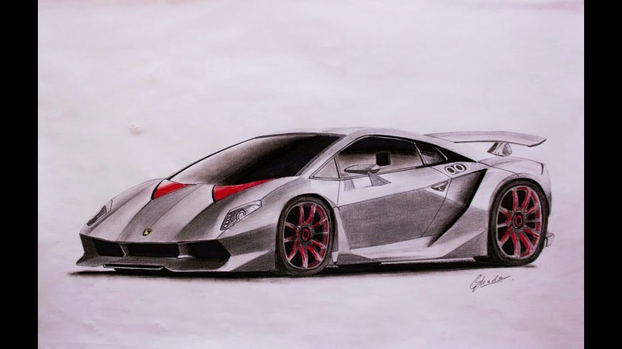 How To Sketch Lamborghini Sesto Elemento Madmade