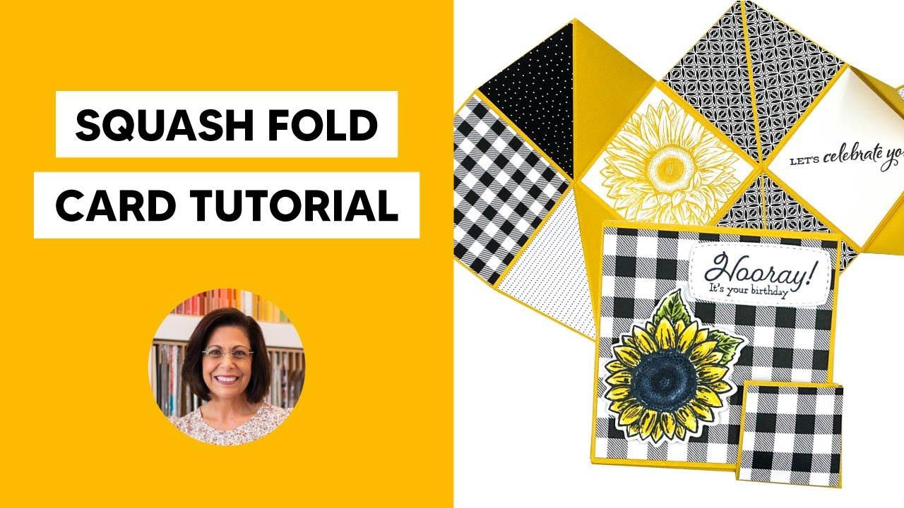 🔴 Create a Squash Fold Card in 3 Sizes