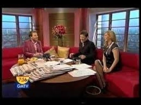 GMTV 25/11/05 - Kate Garraway presents in a maids uniform