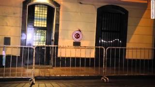 Посольство Турции в Москве закидали камнями(В Москве усилена охрана посольства Турции после погрома, который произошел во время акции протеста активис..., 2015-11-26T09:25:36.000Z)