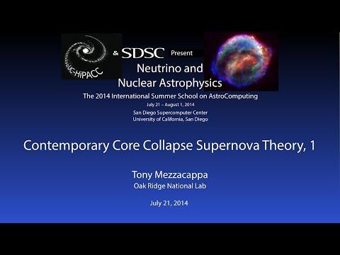 Contemporary Core Collapse Supernova Theory, 1 - Tony Mezzacappa