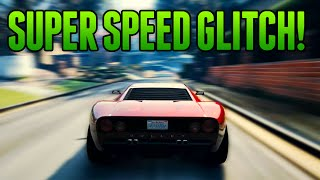 GTA 5 Online - NEW SUPER SPEED GLITCH! 2X SPEED GLITCH! (GTA 5 Glitches)