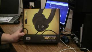 KRK KNS 8400 Pro Headphones Unboxing & Review
