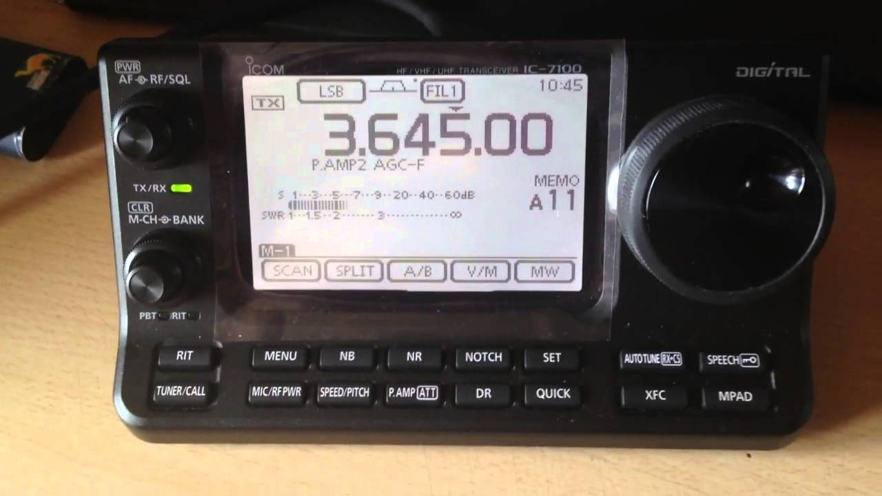 Icom Ic 7100 In Use Cw Lsb Wfm Rtty Sunday