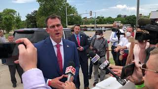 Gov. Stitt on President Trump's visit, COVID concerns