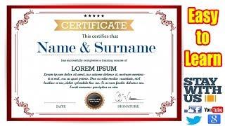 making certificate using microsoft word 2007