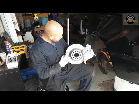 How to replace REAR brake pads and discs (rotors), Audi A6 C6 4F, electric parking brake