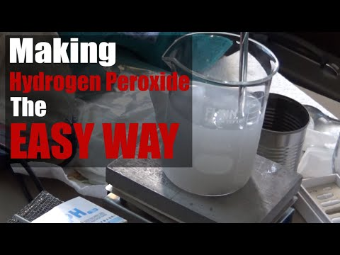 How To Make Hydrogen Peroxide - The Easy Way (Attempt 1)