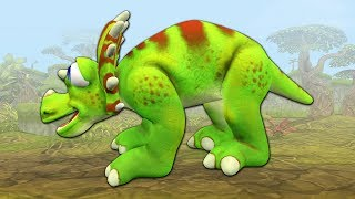 Rescue a Triceratops dinosaur