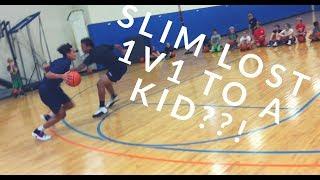 Organik vlog:slim (tgcr) playing a high schooler 1on 1 did he win???