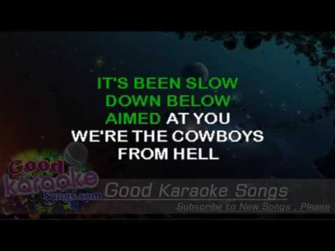 Cowboys From Hell -  Pantera (Lyrics Karaoke) [ goodkaraokesongs.com ]