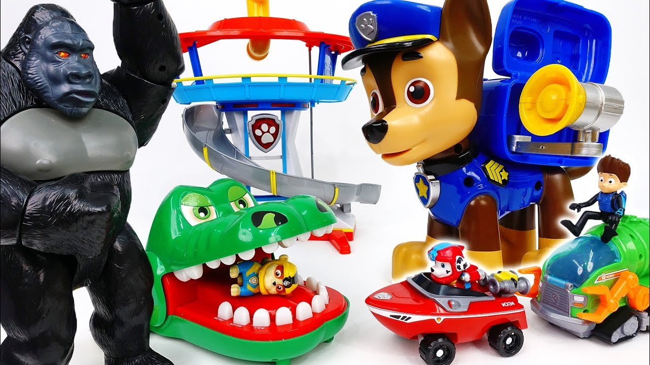 Paw Patrol, Get Bigger To Defeat Big Monsters~! - ToyMart TV