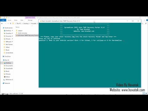 [Hovatek] How to port TWRP for Spreadtrum SPD using Team Hovatek's auto TWRP recovery porter