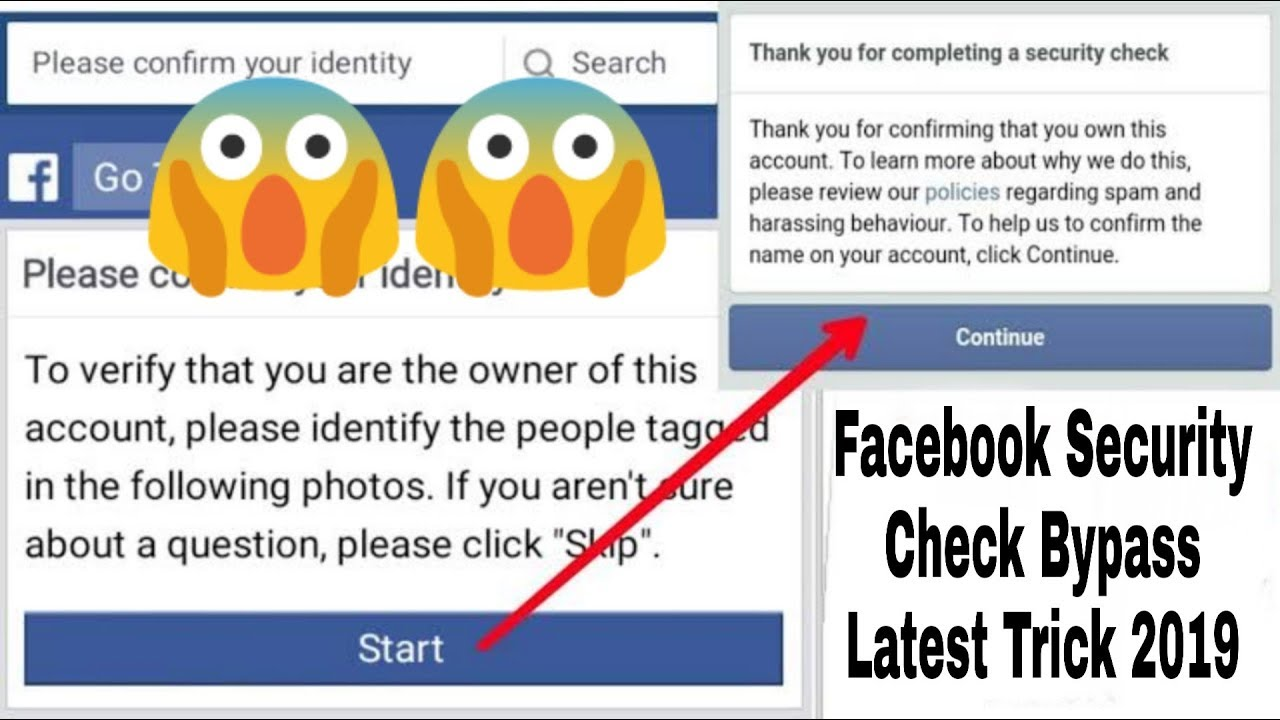 How To Bypass Facebook Security Check In Just 2 Min😉✌️ Latest 2019 Trick  By Abhi
