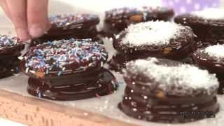 Kijk Marshmallowkoekjes met chocolade filmpje