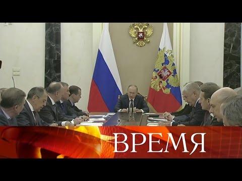 Оборьбе снаркоманией говорил Владимир Путин назаседании Совета безопасности РФ.