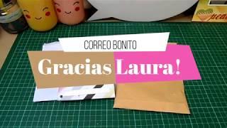 Correo bonito de Laura | Flipbook de sobres | Scrapbook