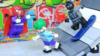 Lego Superhero Skateboard Final Battle Magneto vs Spider Man