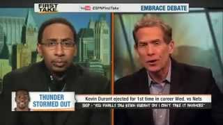 Kevin Durant Ejected Good Or Bad   ESPN First Take