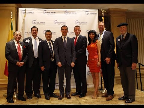 West Los Angeles Chamber of Commerce brakfast with Mayor  Eric Garcetti