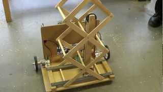 Student Robotics - ThunderBots - Scissor Lift prototype with pulley system V01