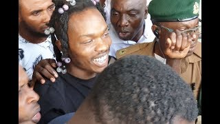 Naira Marley Step Out Laughing As Court grants Him N2million bail To Be Out Of Prison,Fans Hail Him