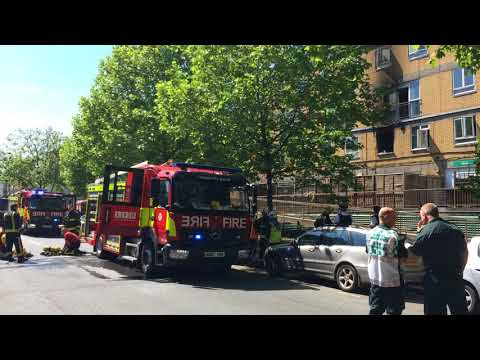 Fire in Plender Street, Camden Town