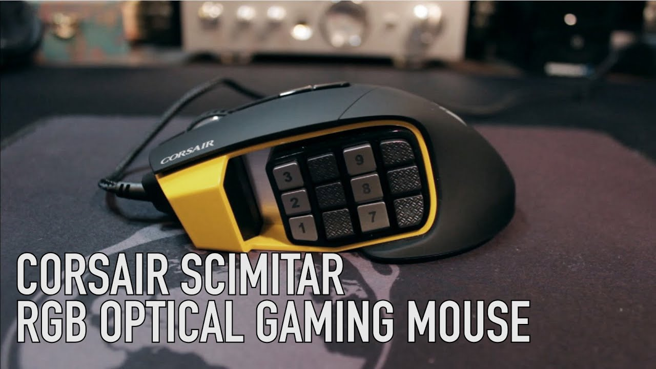 e4b848cc0ec Corsair Scimitar RGB Optical MOBA/MMO Gaming Mouse - YouTube