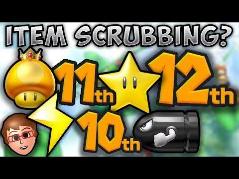 New Broken Mario Kart 8 Deluxe Strategy.. ITEM SCRUBBING